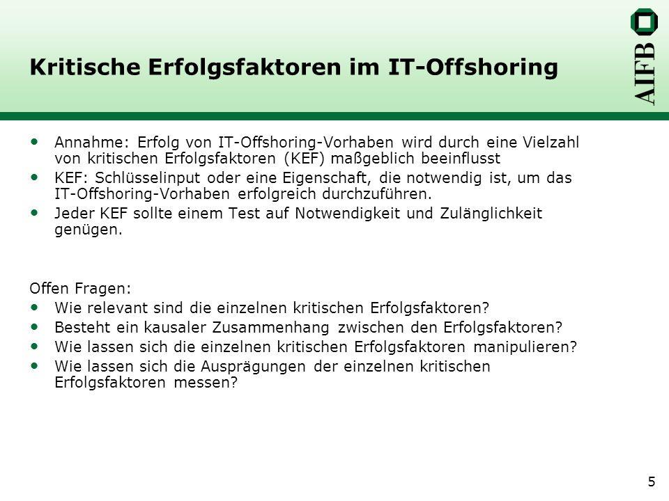 Kritische Erfolgsfaktoren im IT-Offshoring