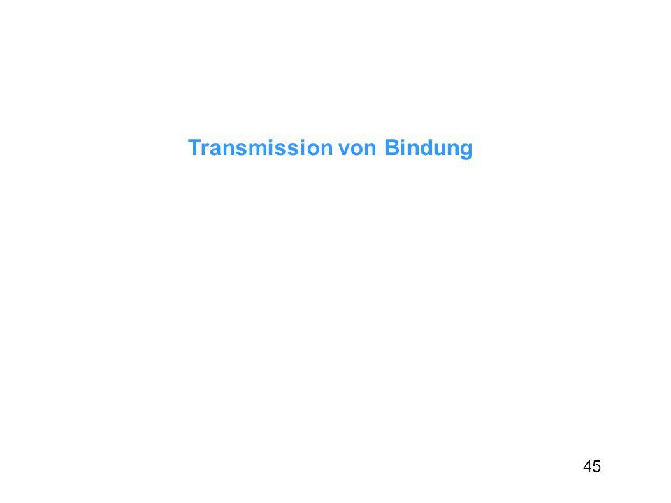 Transmission von Bindung