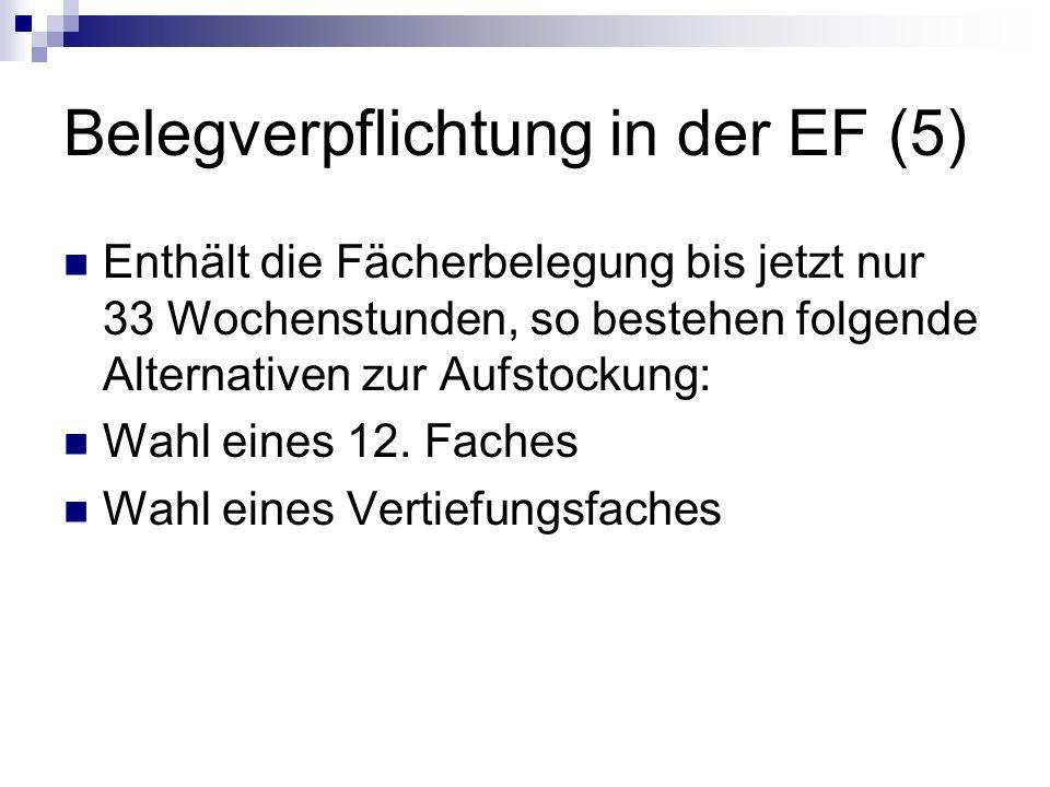 Belegverpflichtung in der EF (5)