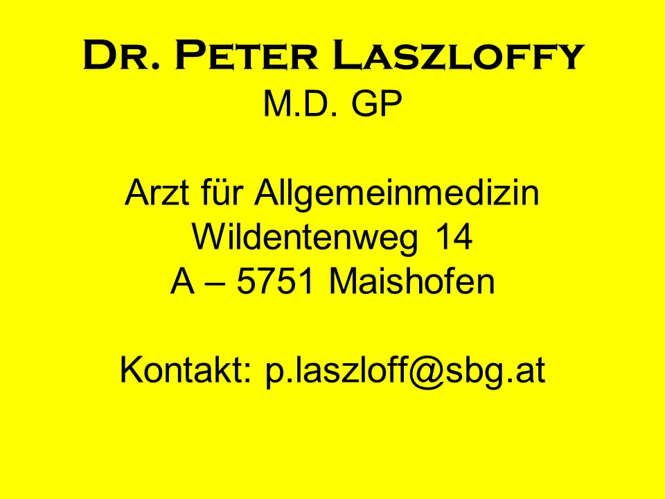 Dr. Peter Laszloffy M.D.