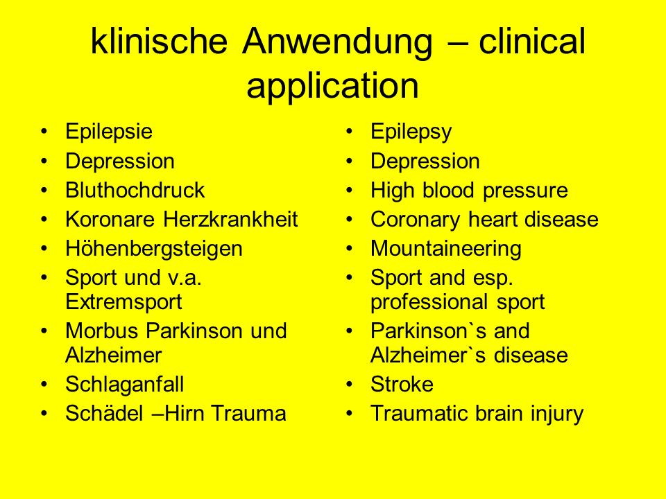 klinische Anwendung – clinical application
