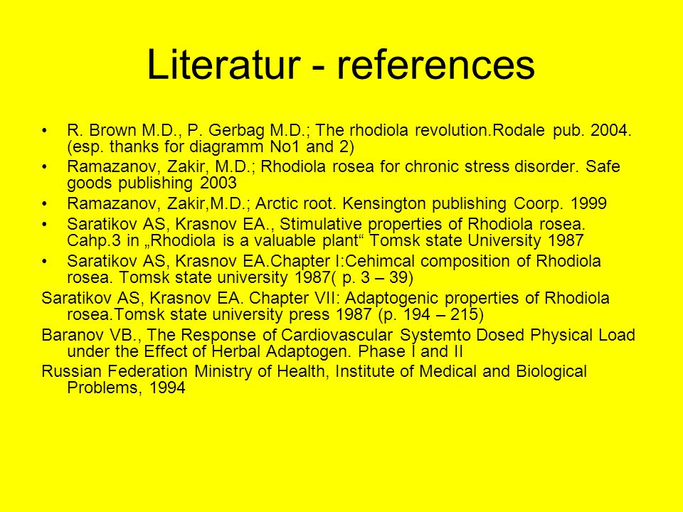 Literatur - references