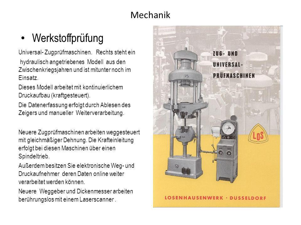 Werkstoffprüfung Mechanik