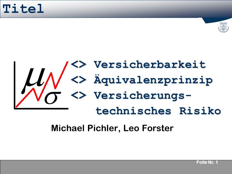 Michael Pichler, Leo Forster