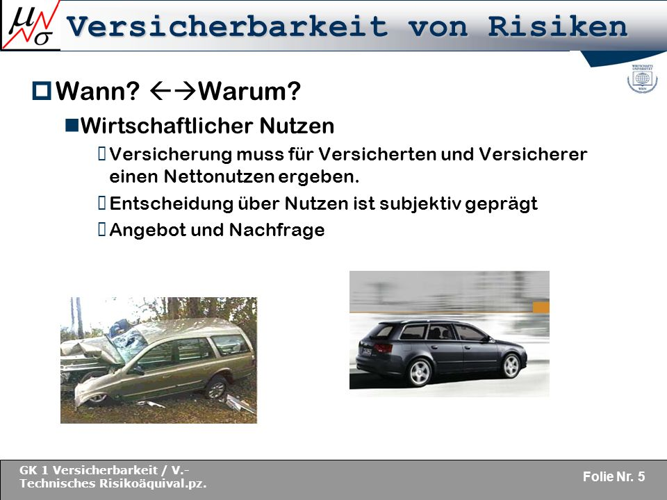 Versicherbarkeit von Risiken