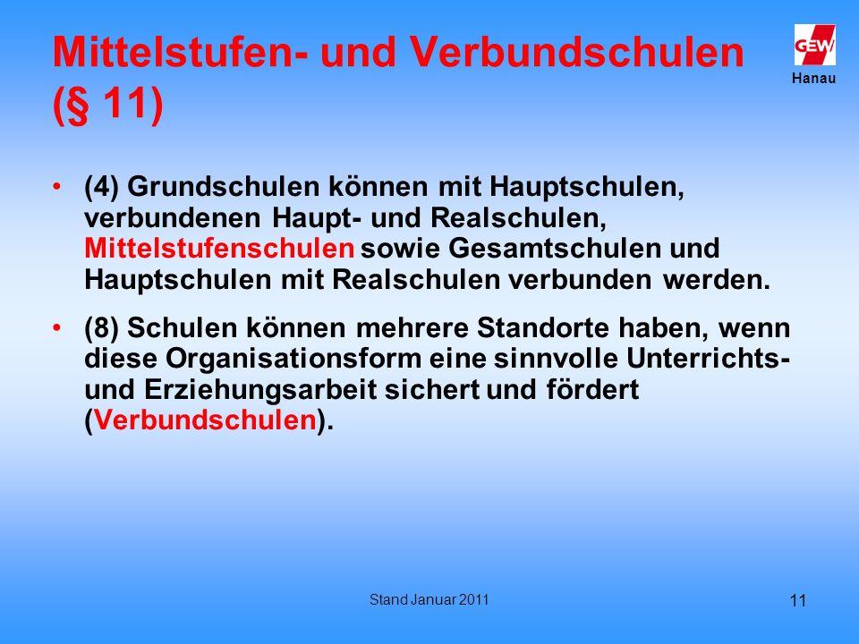 Mittelstufen- und Verbundschulen (§ 11)
