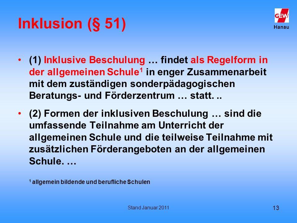 Inklusion (§ 51)