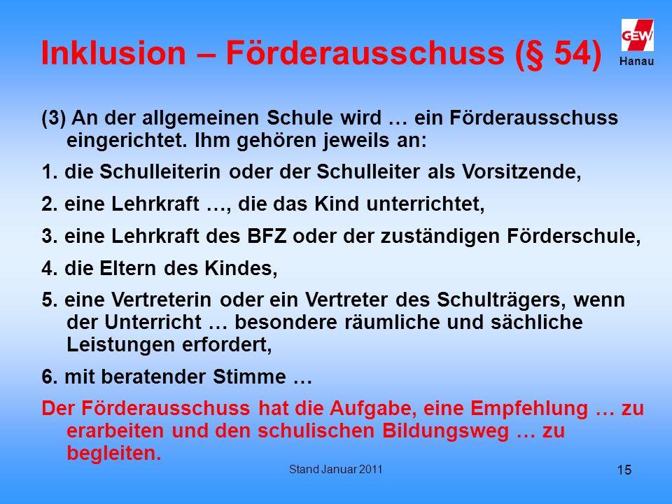 Inklusion – Förderausschuss (§ 54)