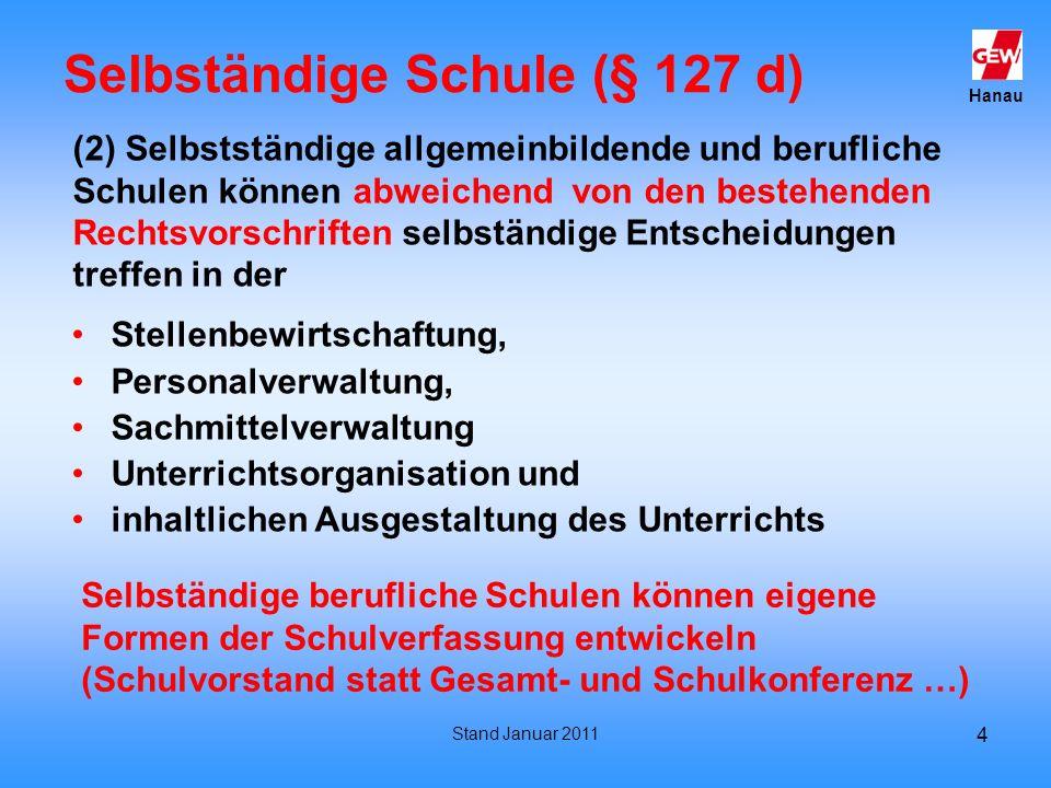 Selbständige Schule (§ 127 d)
