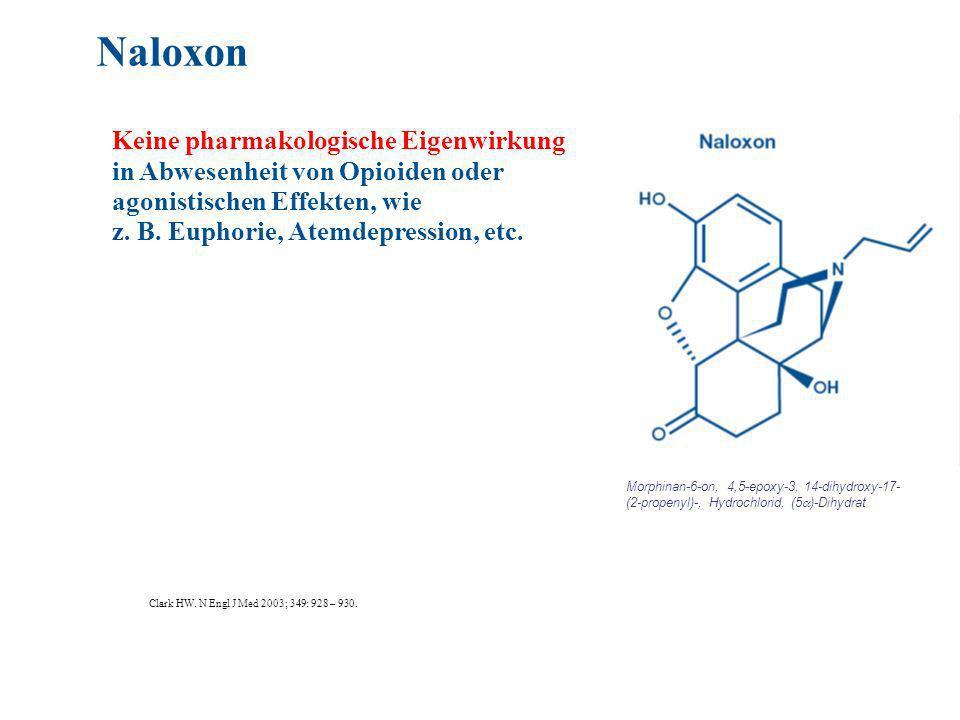 Naloxon Keine pharmakologische Eigenwirkung