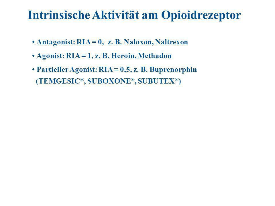 Intrinsische Aktivität am Opioidrezeptor