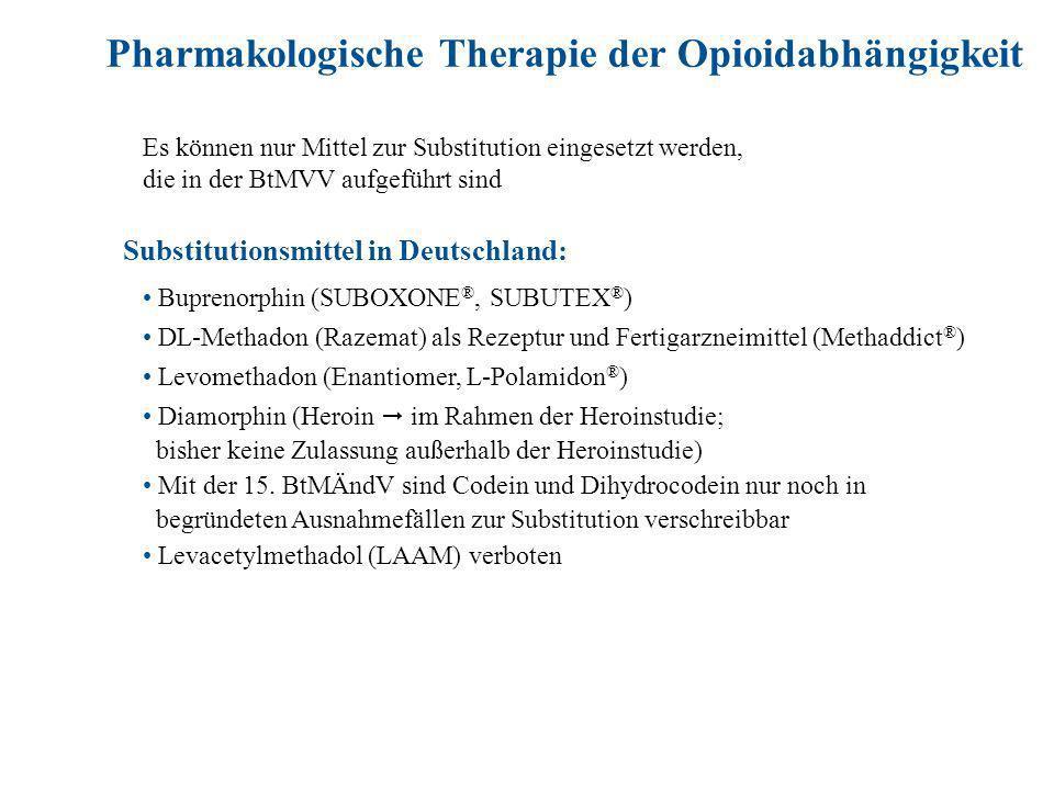 Pharmakologische Therapie der Opioidabhängigkeit