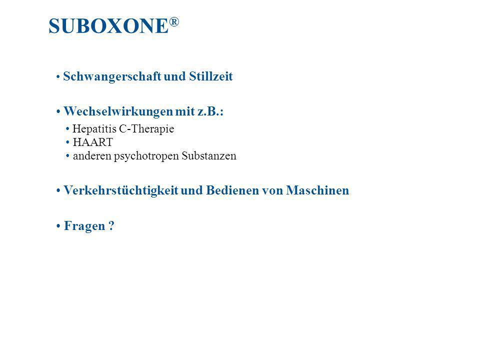 SUBOXONE® Wechselwirkungen mit z.B.: