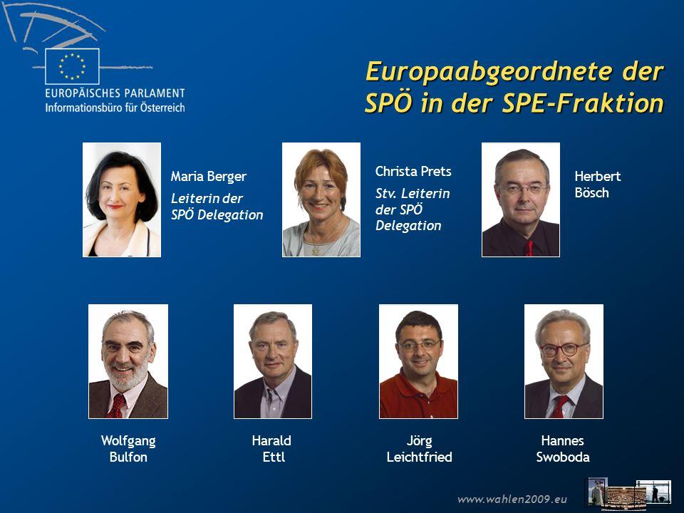 Europaabgeordnete der SPÖ in der SPE-Fraktion