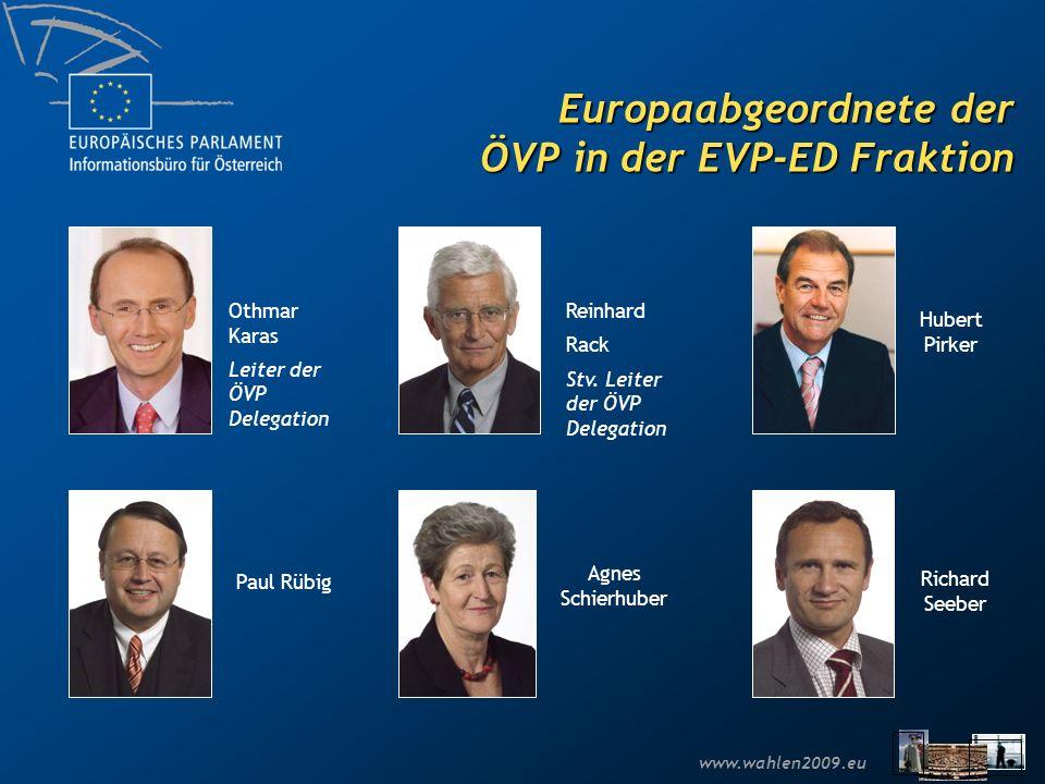 Europaabgeordnete der ÖVP in der EVP-ED Fraktion