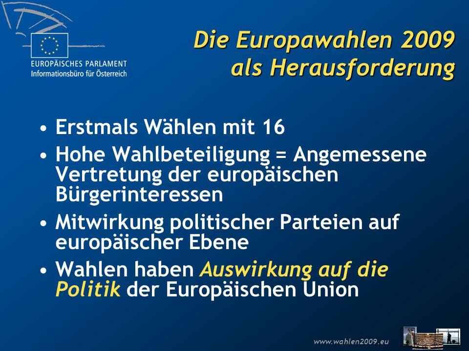 Die Europawahlen 2009 als Herausforderung