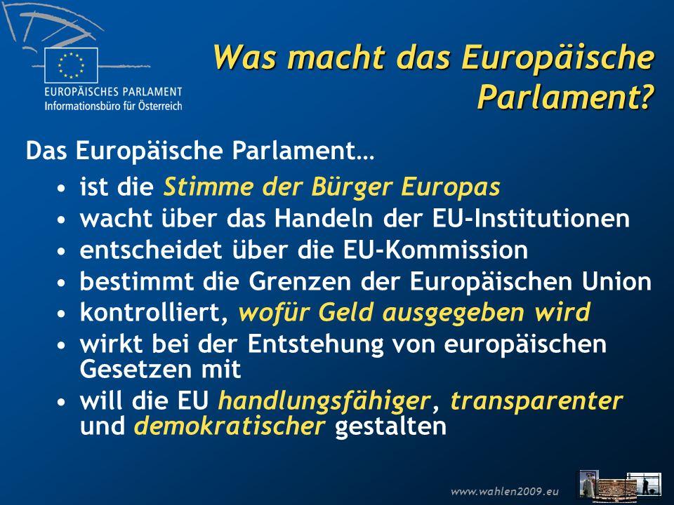 Was macht das Europäische Parlament