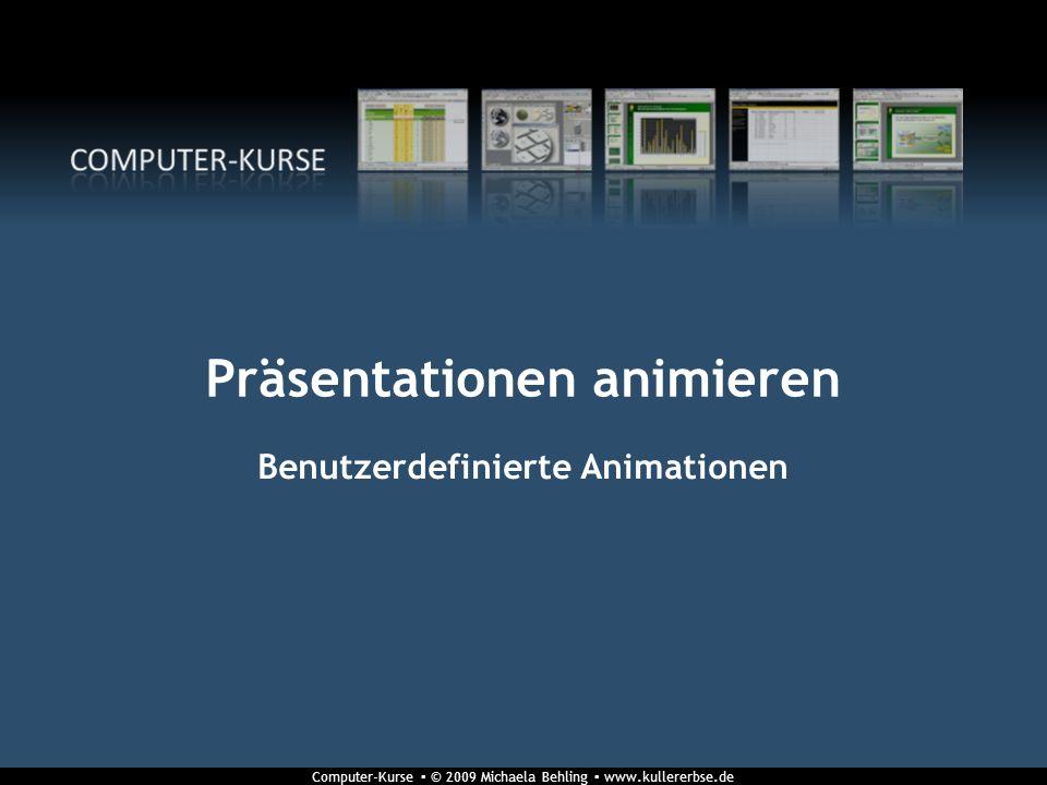 Präsentationen animieren