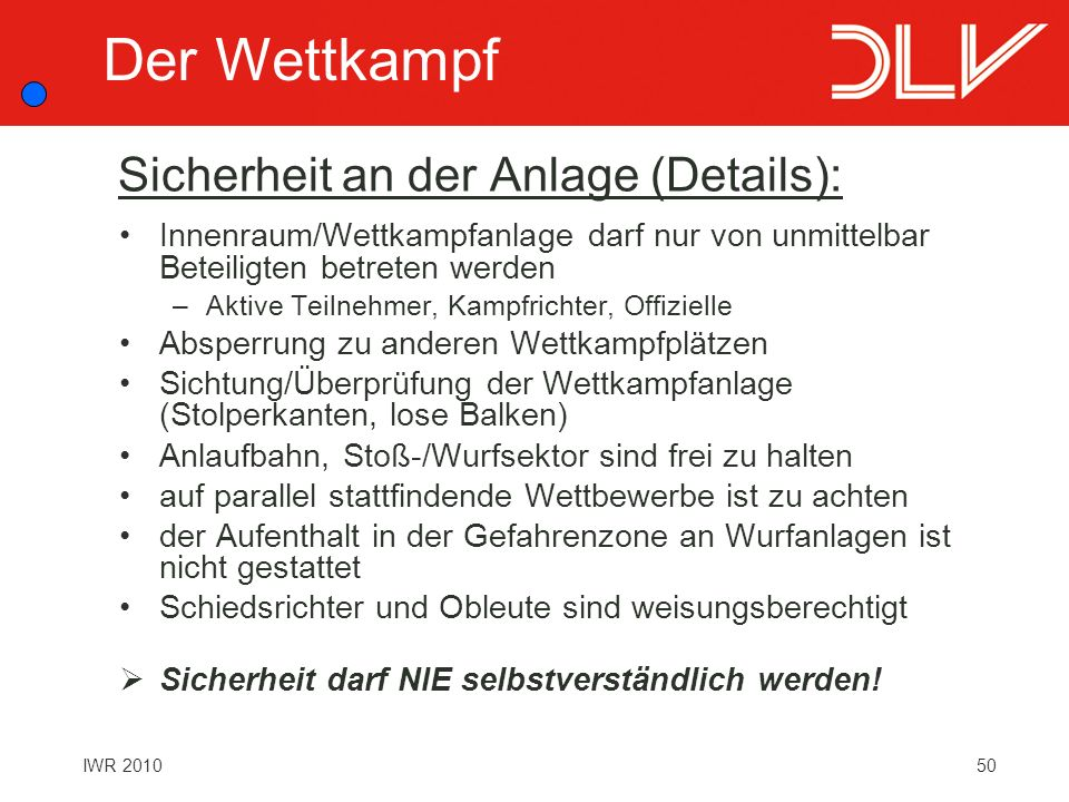 Sicherheit an der Anlage (Details):