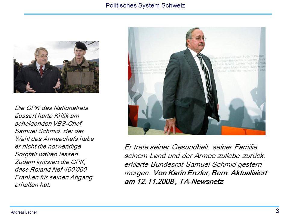 Die GPK des Nationalrats äussert harte Kritik am scheidenden VBS-Chef Samuel Schmid. Bei der Wahl des Armeechefs habe er nicht die notwendige Sorgfalt walten lassen. Zudem kritisiert die GPK, dass Roland Nef 400 000 Franken für seinen Abgang erhalten hat.