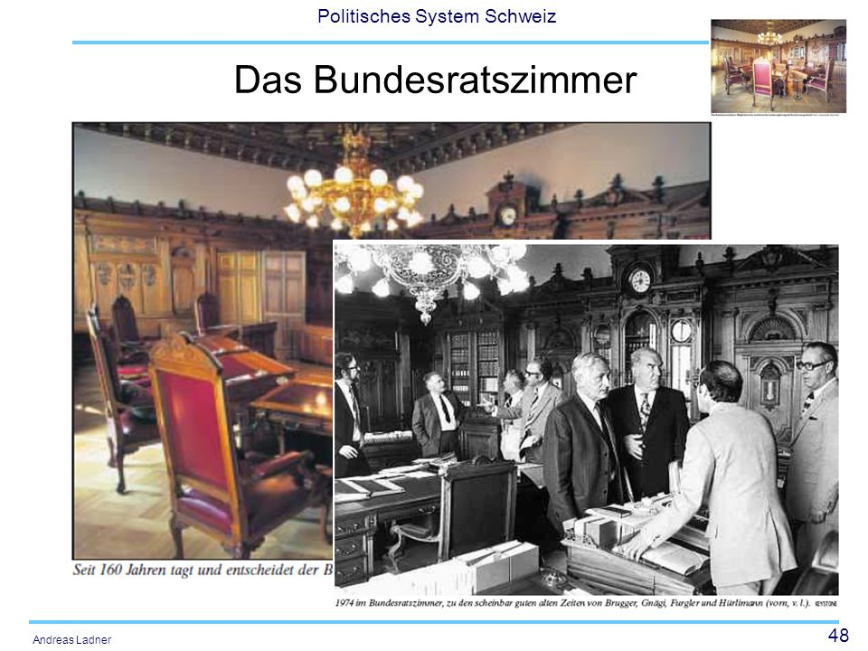 Das Bundesratszimmer