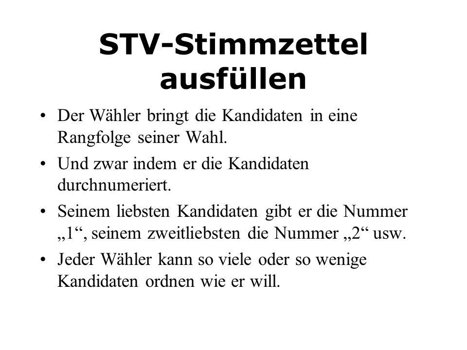STV-Stimmzettel ausfüllen