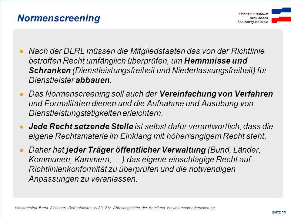 Normenscreening