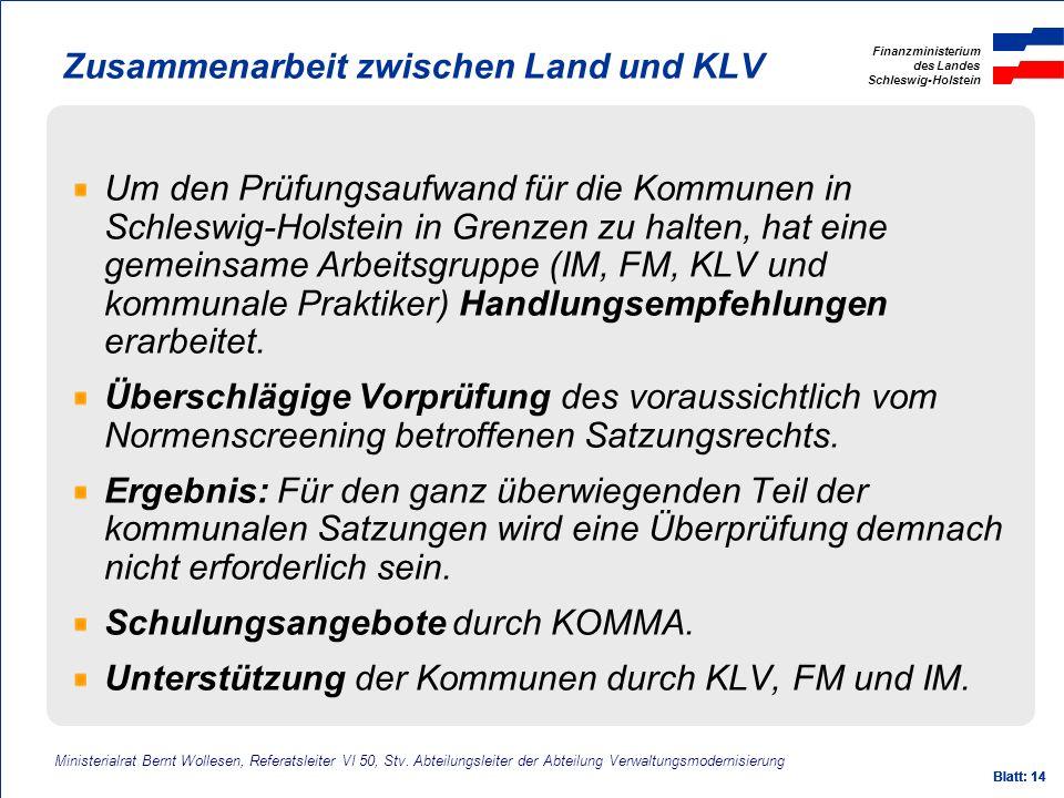 Zusammenarbeit zwischen Land und KLV