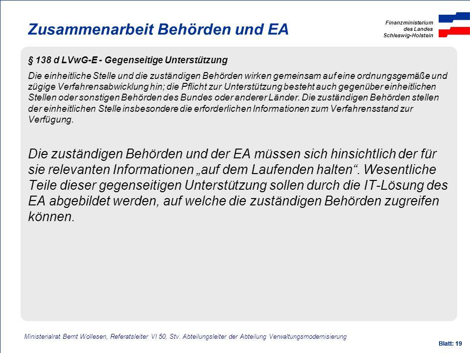 Zusammenarbeit Behörden und EA