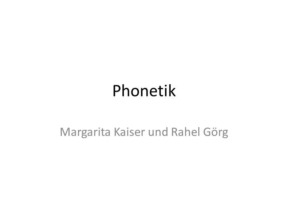 Margarita Kaiser und Rahel Görg