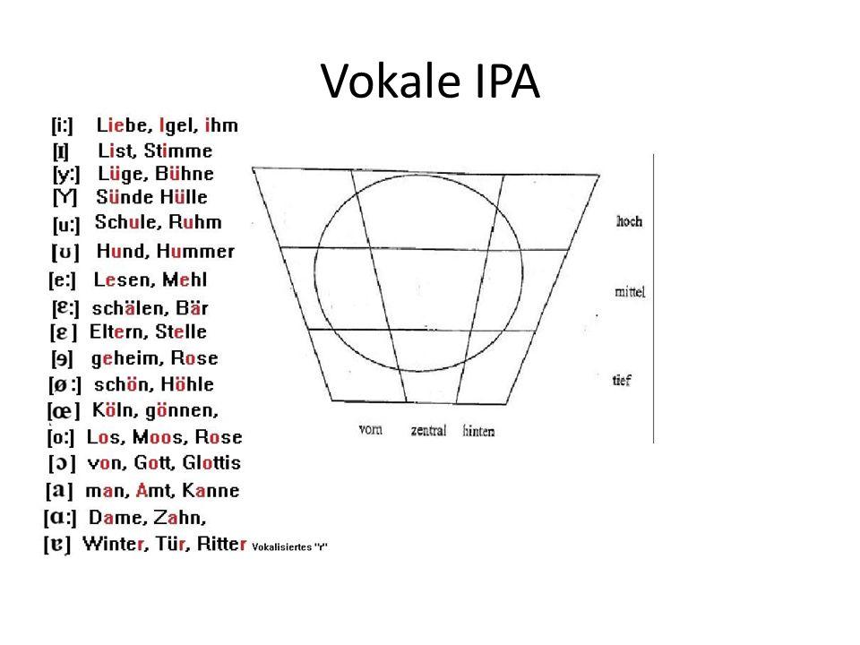 Vokale IPA
