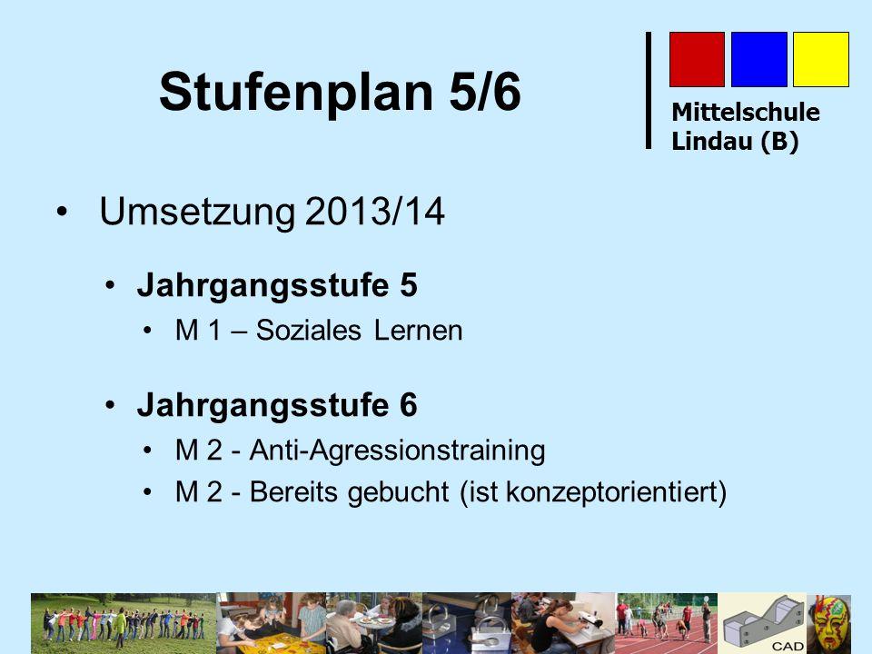 Stufenplan 5/6 Umsetzung 2013/14 Jahrgangsstufe 5 Jahrgangsstufe 6