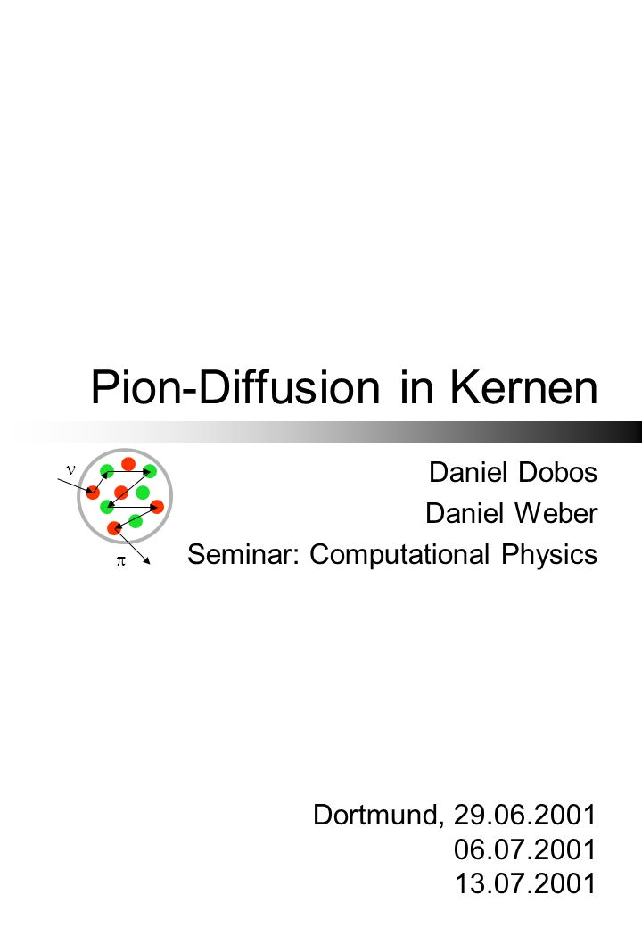 Pion-Diffusion in Kernen