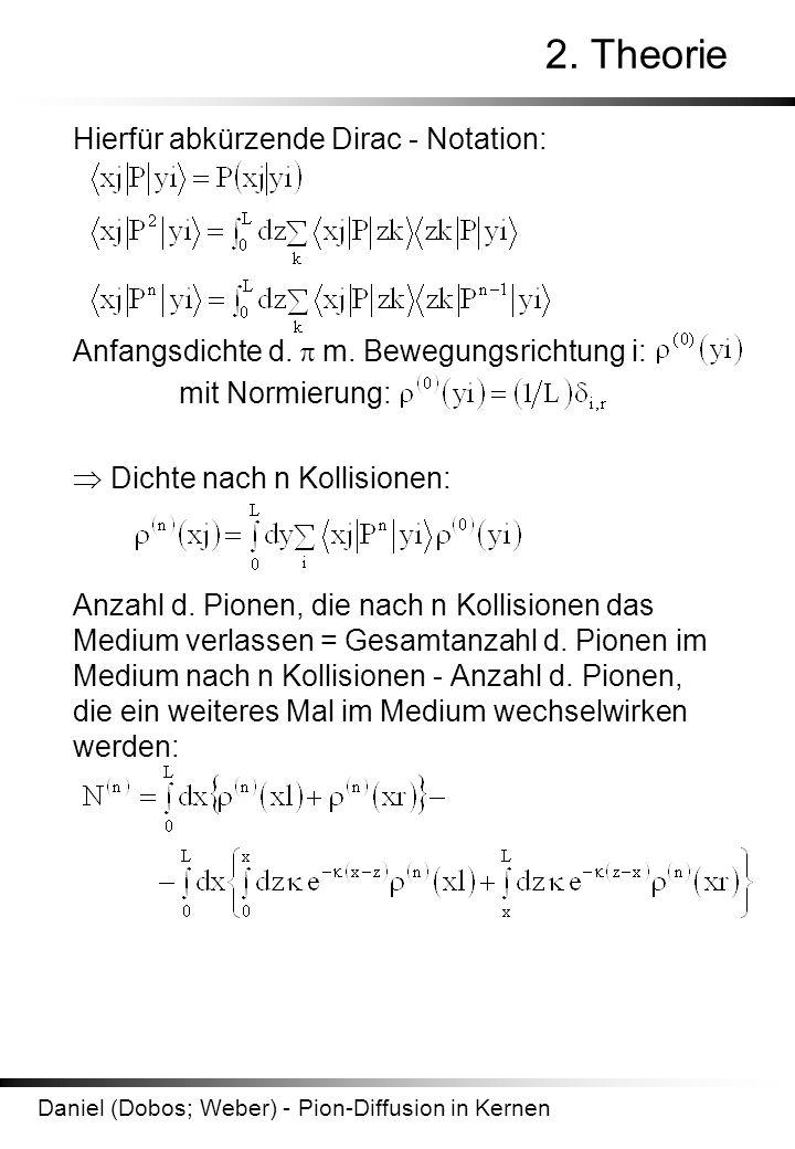 2. Theorie Hierfür abkürzende Dirac - Notation: