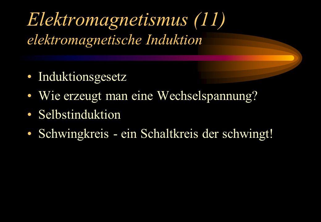 Elektromagnetismus (11) elektromagnetische Induktion
