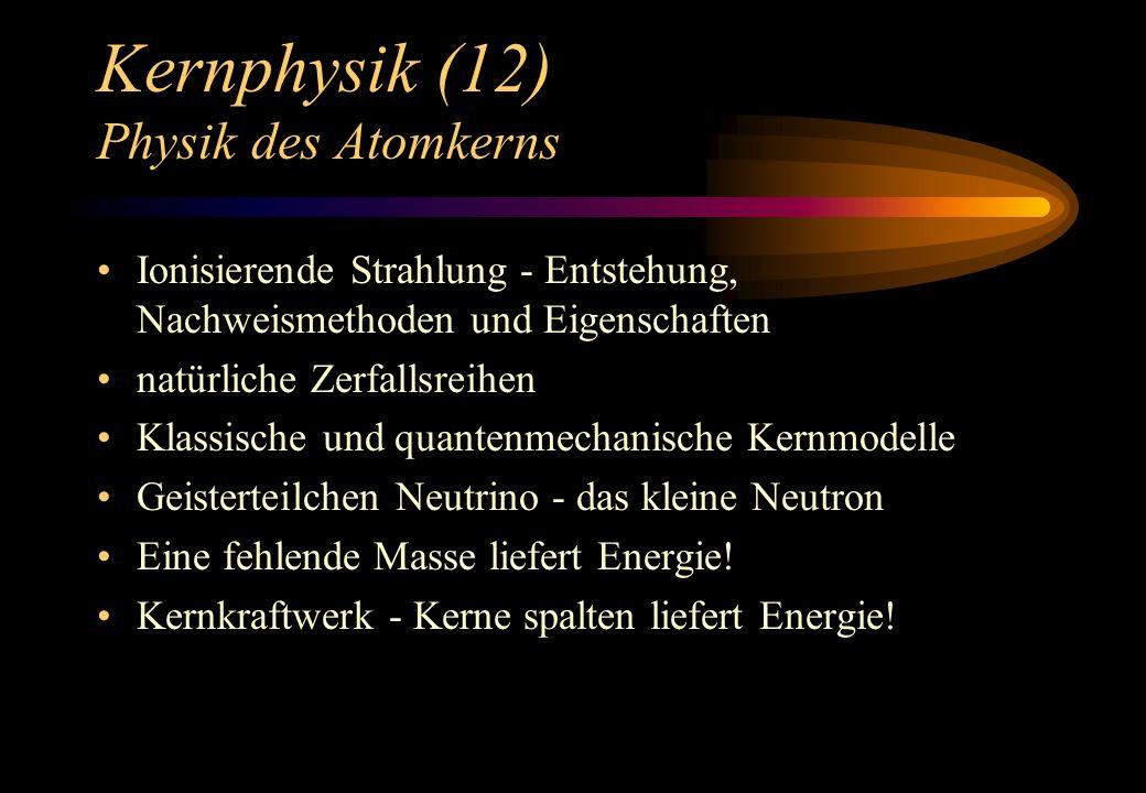 Kernphysik (12) Physik des Atomkerns