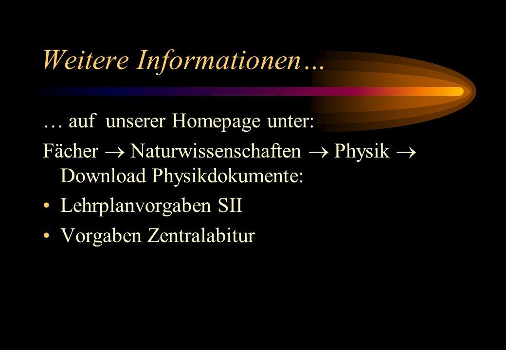 Weitere Informationen…