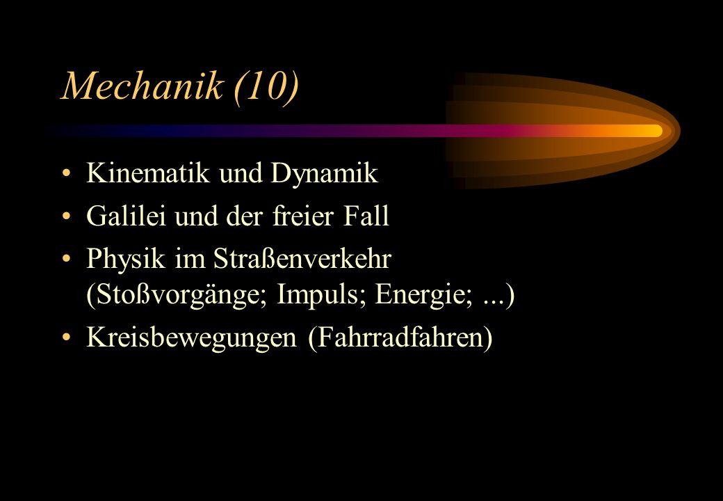 Mechanik (10) Kinematik und Dynamik Galilei und der freier Fall