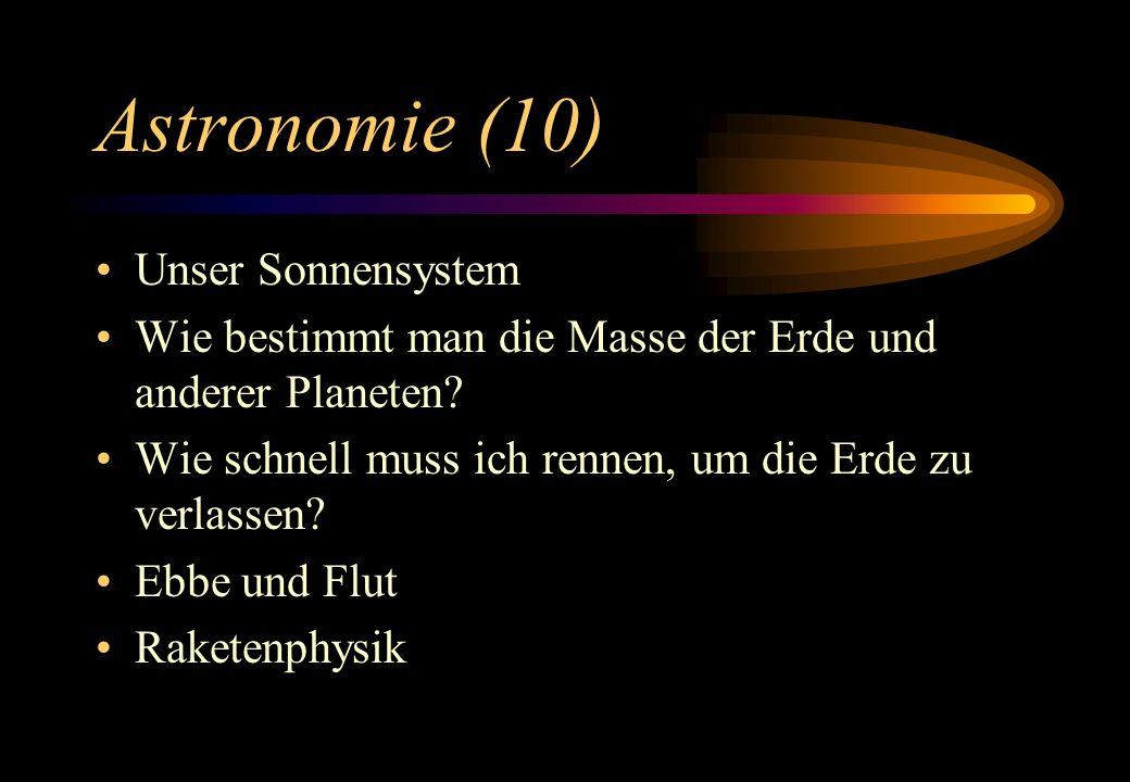 Astronomie (10) Unser Sonnensystem