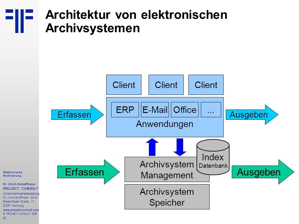 Architektur von elektronischen Archivsystemen