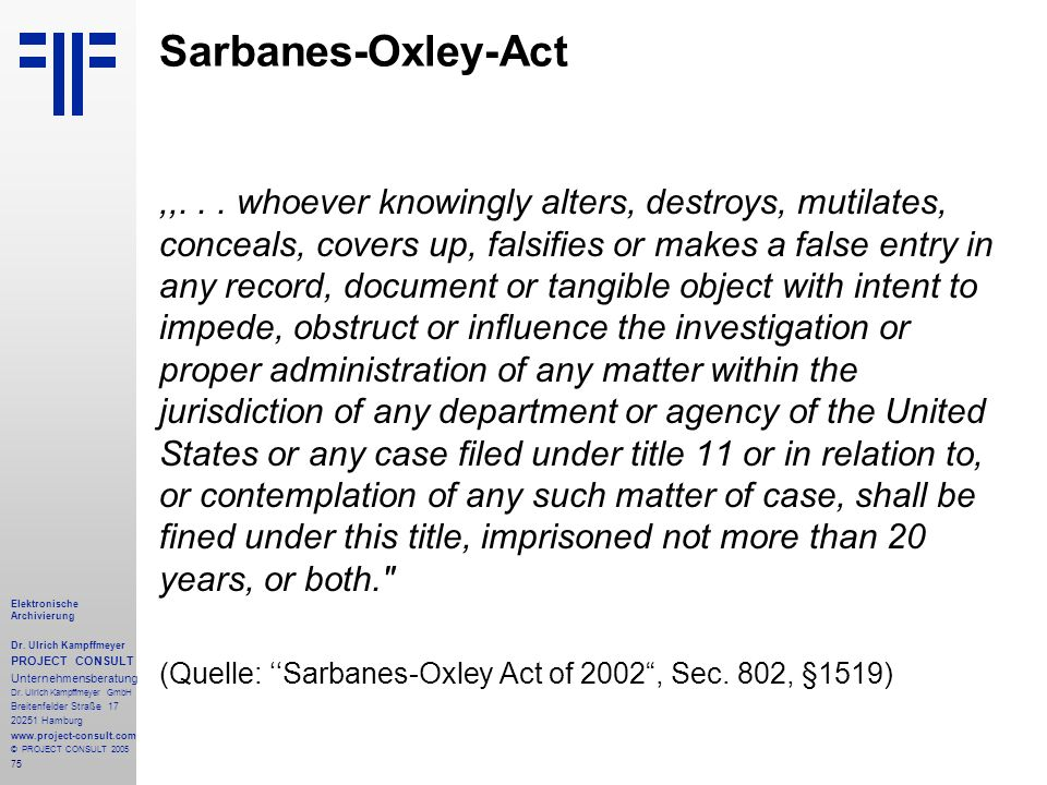 Sarbanes-Oxley-Act