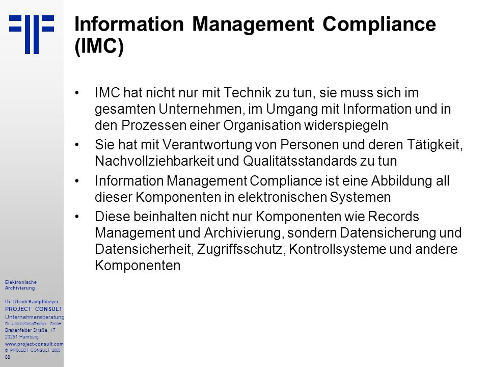 Information Management Compliance (IMC)
