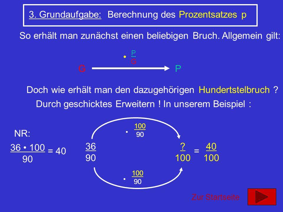 3. Grundaufgabe: Berechnung des Prozentsatzes p