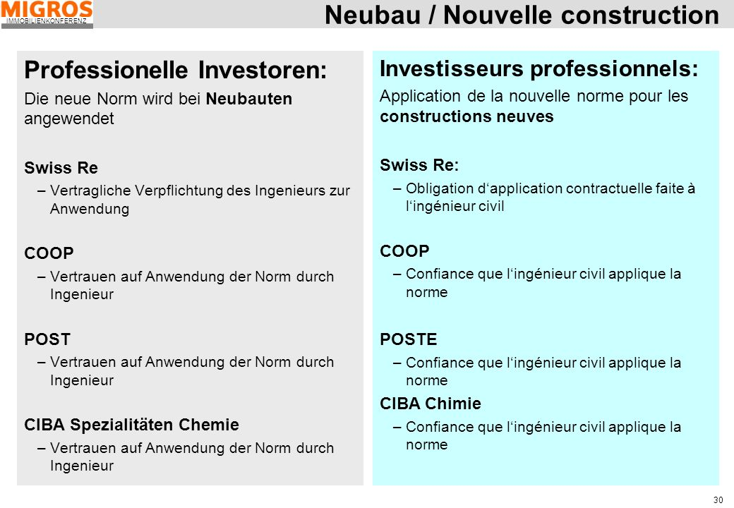 Neubau / Nouvelle construction