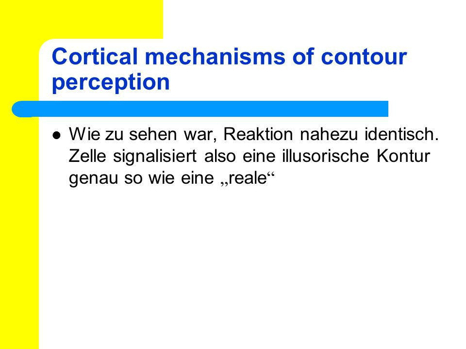 Cortical mechanisms of contour perception