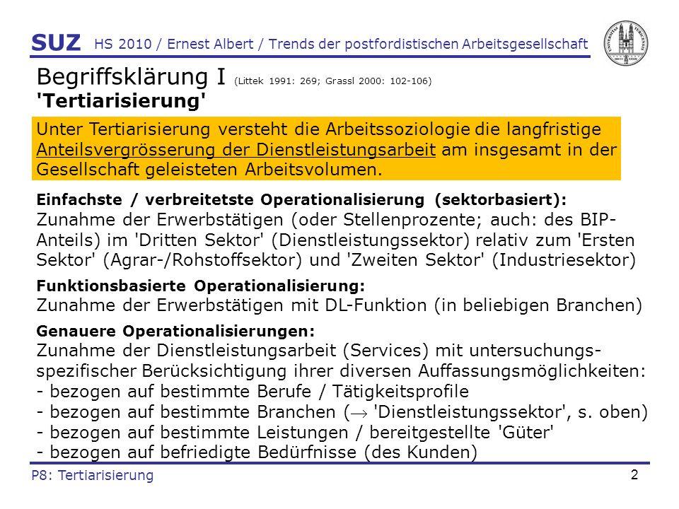 Begriffsklärung I (Littek 1991: 269; Grassl 2000: 102-106)