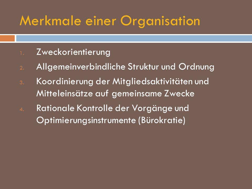 Merkmale einer Organisation