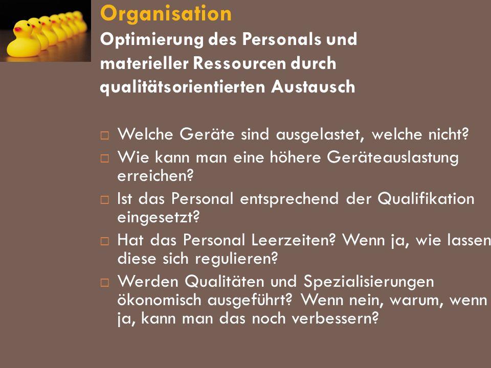 Organisation Optimierung des Personals und