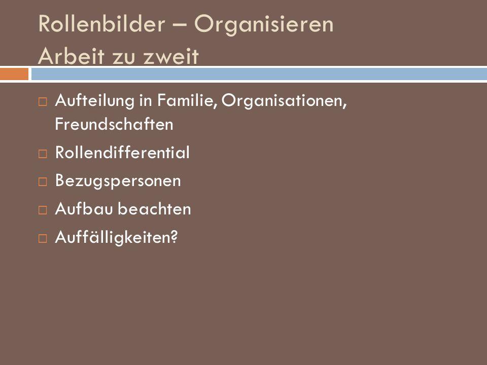 Rollenbilder – Organisieren Arbeit zu zweit