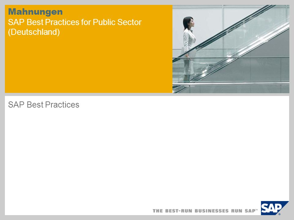 Mahnungen SAP Best Practices for Public Sector (Deutschland)